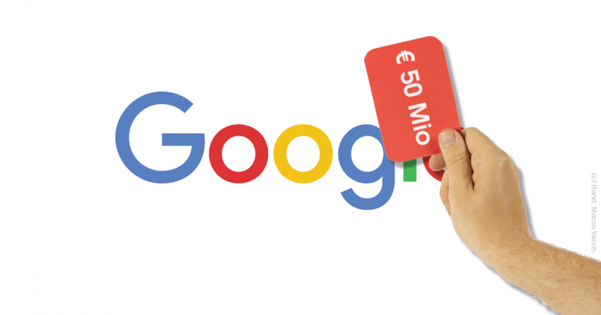 BREAKING: CNIL fines Google € 50 Mio based on noyb complaint