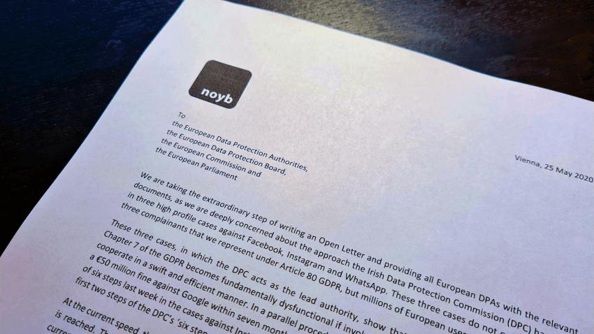 open letter by noyb